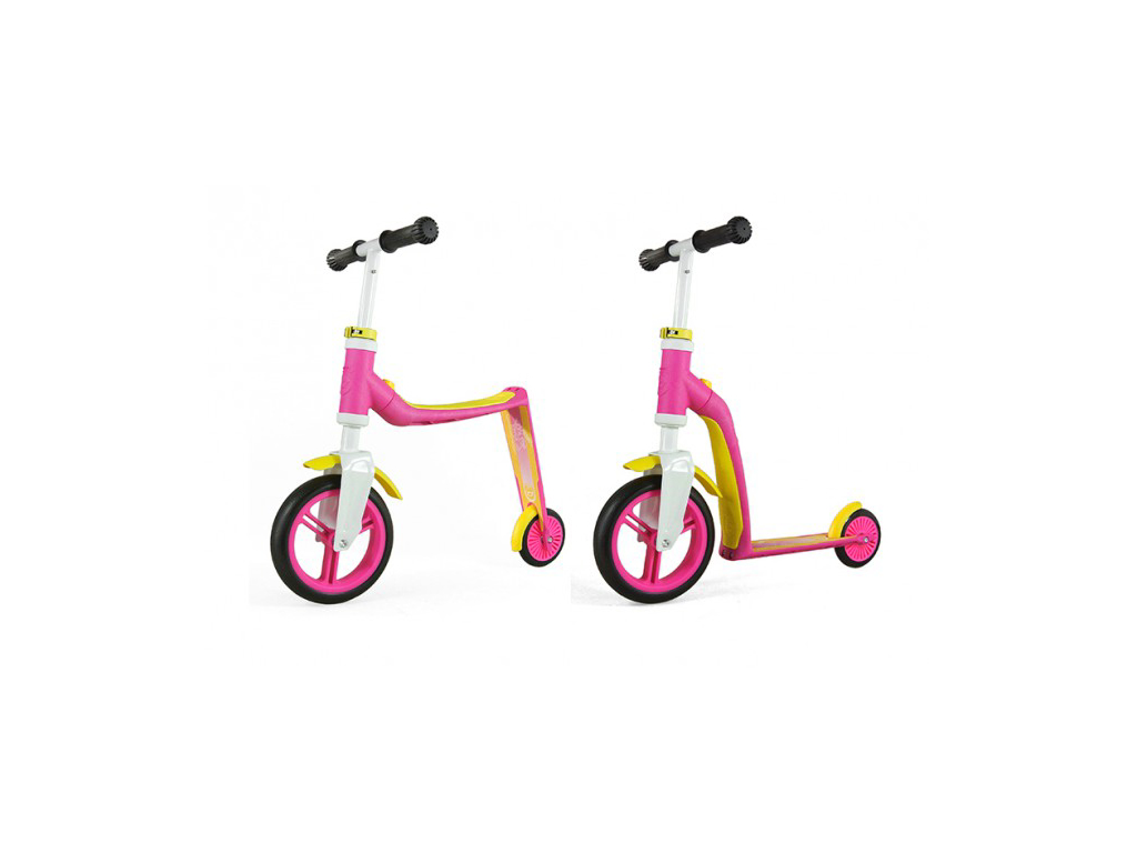Image of   Scoot&Ride 2 i 1 løbehjul og løbecykel - Highway baby - Pink/Gul