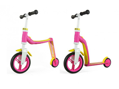 Scoot & Ride 2 in 1 scooter and running bike - Highway baby - Pink / Yellow