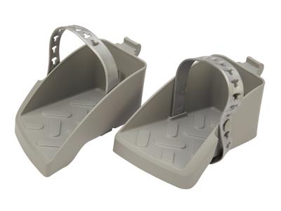 Polisport Guppy Maxi fodstøtter med remme - Mørkegrå