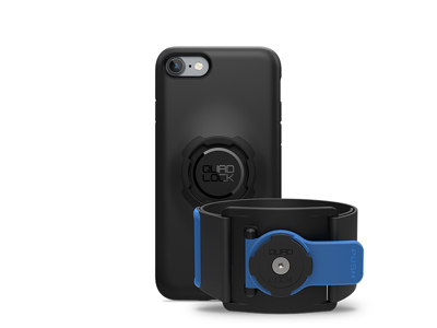 Quad Lock - Run kit - Cover, cage og strop til overarm - Til iPhone 7/8