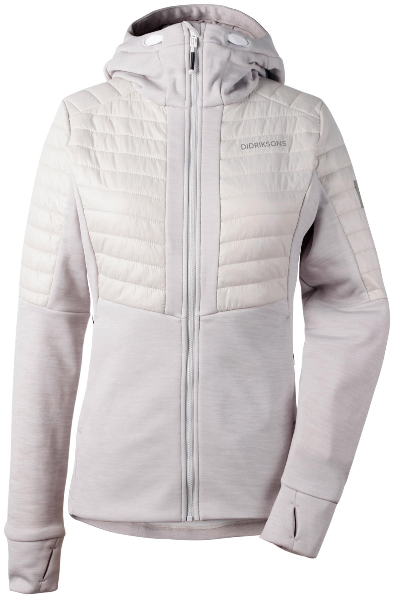 Didriksons Annema Womens Jacket - Softshelljakke Dame - Grå-hvid | Jackets