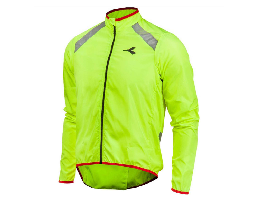 Image of   Diadora - Cykeljakke Padova Windbreaker - Str. L - Yellow fluo