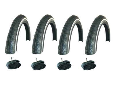 """4 sæt dæk og slanger 14""""  til barnevogn model Schwalbe Active Line"""