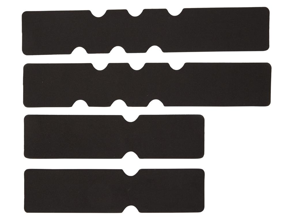 Image of   Atredo - Neopren skum indlæg til styrbånd - Sæt med 4 pads - Sort neopren
