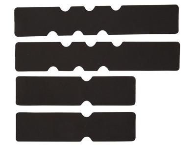 Atredo - Neopren skum indlæg til styrbånd - Sæt med 4 pads - Sort neopren