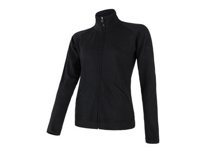 Sensor Merino Upper Fleece - Uldfleece jakke - Dame - Sort