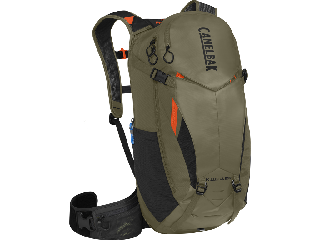 Camelbak K.U.D.U. - Rygsæk 20L med rygskjold - Str. M/L - Oliven/Orange