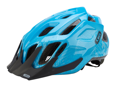 Cykelhjälm Abus MountX med LED lampa Blå
