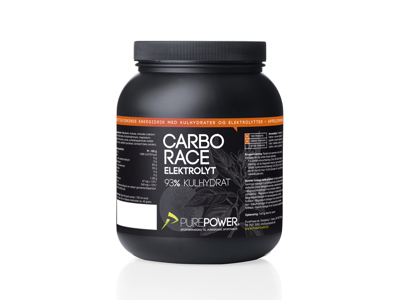 PurePower - Carbo Race Elektrolyt - Energidryck - Apelsin 1,5 kg