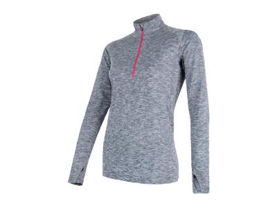 Sensor Motion - Langærmet t-shirt - Dame - Gråmeleret - Str. L