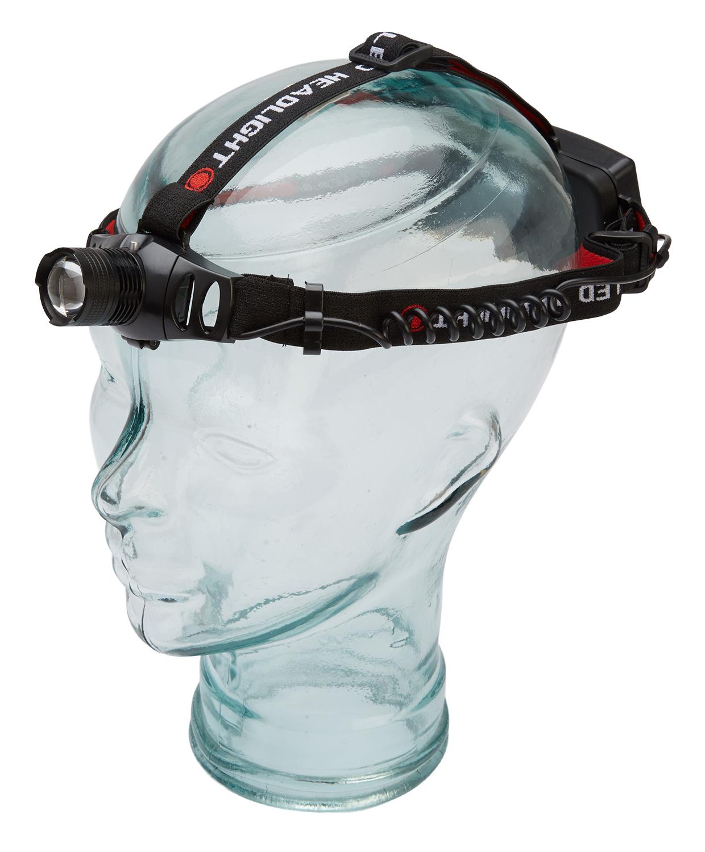 Atredo - Pandelampe - 250 lumen - Opladelig - Aluminium - Sort   Headlamp