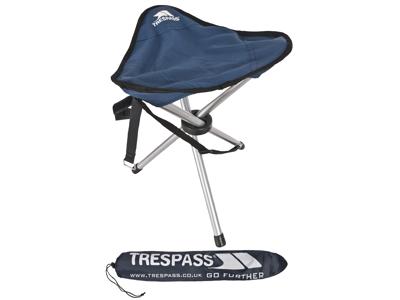 Trespass Tripod - Foldbar camping-mini-stol - Blå