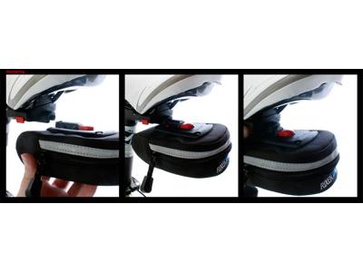 Klickfix - Sadeltaske - Sort 0,4 liter