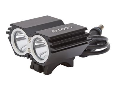 Atredo - MTB Framlykta - 2400 Lumen - USB uppladdningsbar - Svart