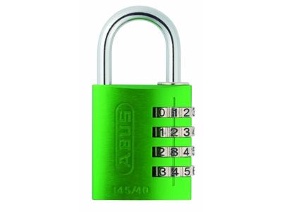 Hængelås Abus 145/40 grøn med firecifret kode