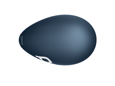 POC Cerebel Raceday - Enkeltstartshjelm - 54-60 cm - Navy Black