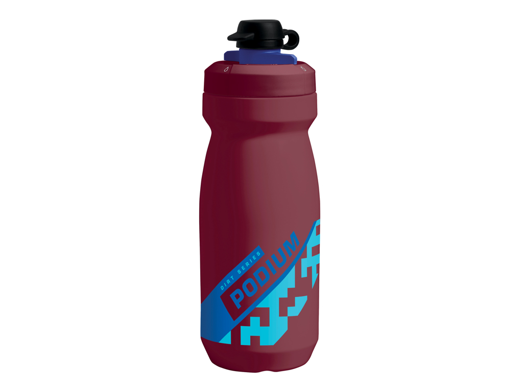 Camelbak Podium Dirt - Drikkeflaske 620 ml - Burgundy/Blå - 100% BPA fri