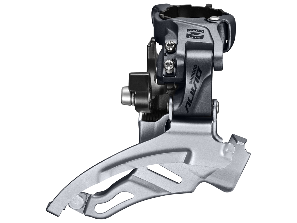 Image of   Shimano Alivio - Forskifter FD-M4000 - 3x9 gear MTB - Top clamp med bånd 28,6-34,9mm