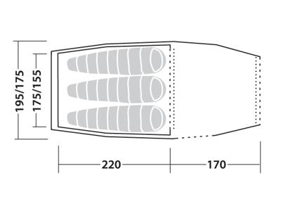 Robens Voyager Versa 3 - Tält - 3 Personer - Grön