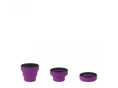 LifeVenture Ellipse Collapsible Cup - Silikon - Lila
