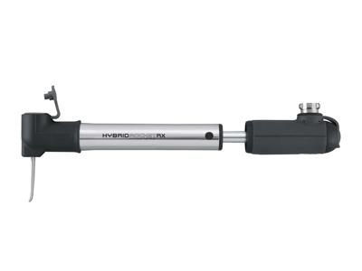 Topeak Micro HybridRocket RX - Mini- og CO2 pumpe - 11 bar / 160 psi - Grå/sølv