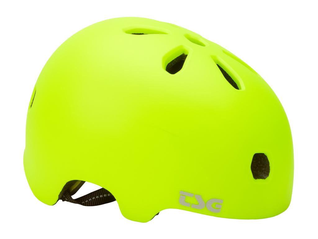 TSG Cykel- og skaterhjelm - Meta solid color - Str. 58-60 cm - Satin acid gul thumbnail