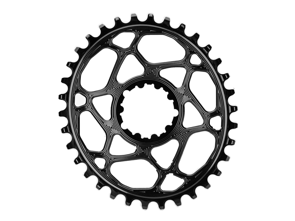 Image of absoluteBLACK Oval klinge - Sram - Direct mount - Offset 6 mm - 34 tænder - Sort