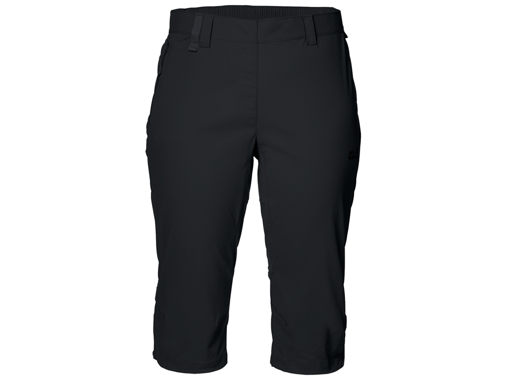 Jack Wolfskin Activate Light 3/4 Shorts - Dame Str. 44 - Black thumbnail