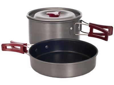 Trespass Reheat - Grydesæt - Slip-let belægning - 1 + 2 liter