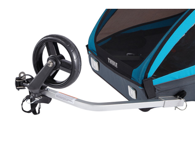 Thule Coaster XT - Cykeltrailer til 2 børn - Sort/Turkis