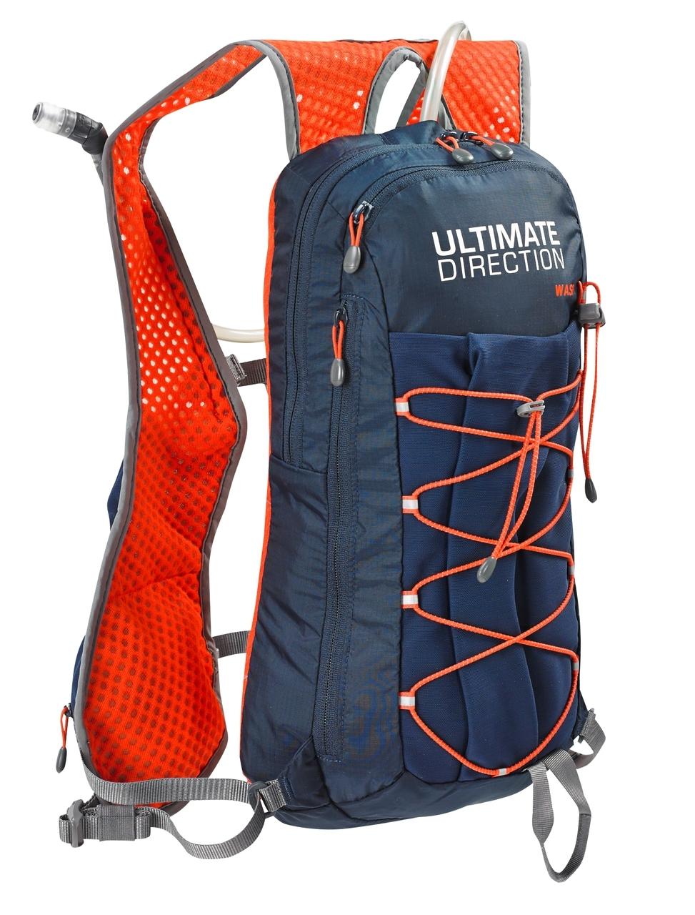 Ultimate Direction Wasp - Rygsæk inkl. 2 liter væskeblære - Navy/orange | Travel bags