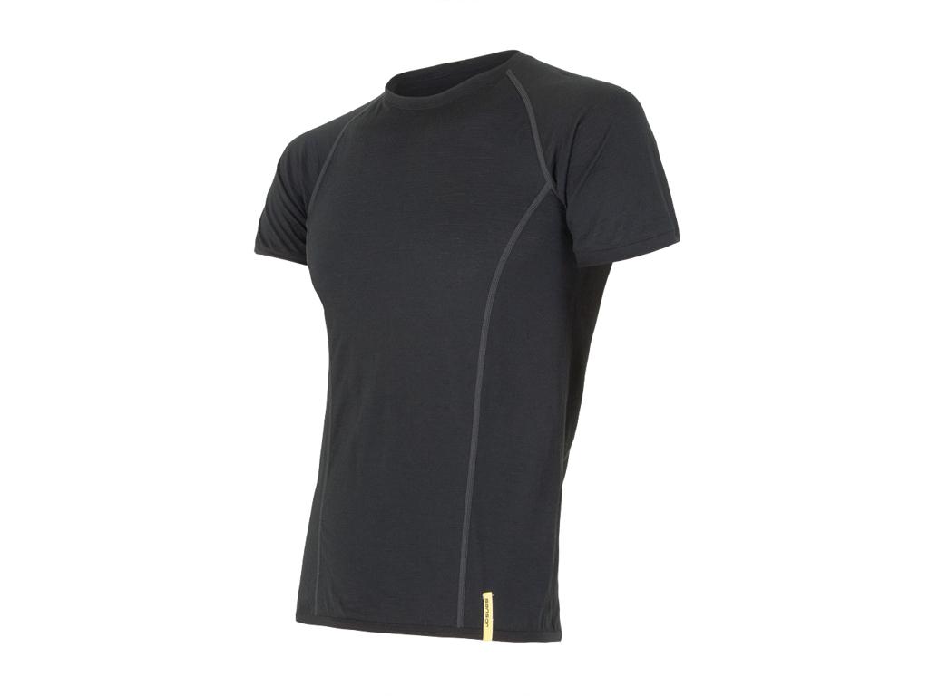 Image of   Sensor Merino Active - Uld T-shirt med korte ærmer - Herre - Sort - Str. L