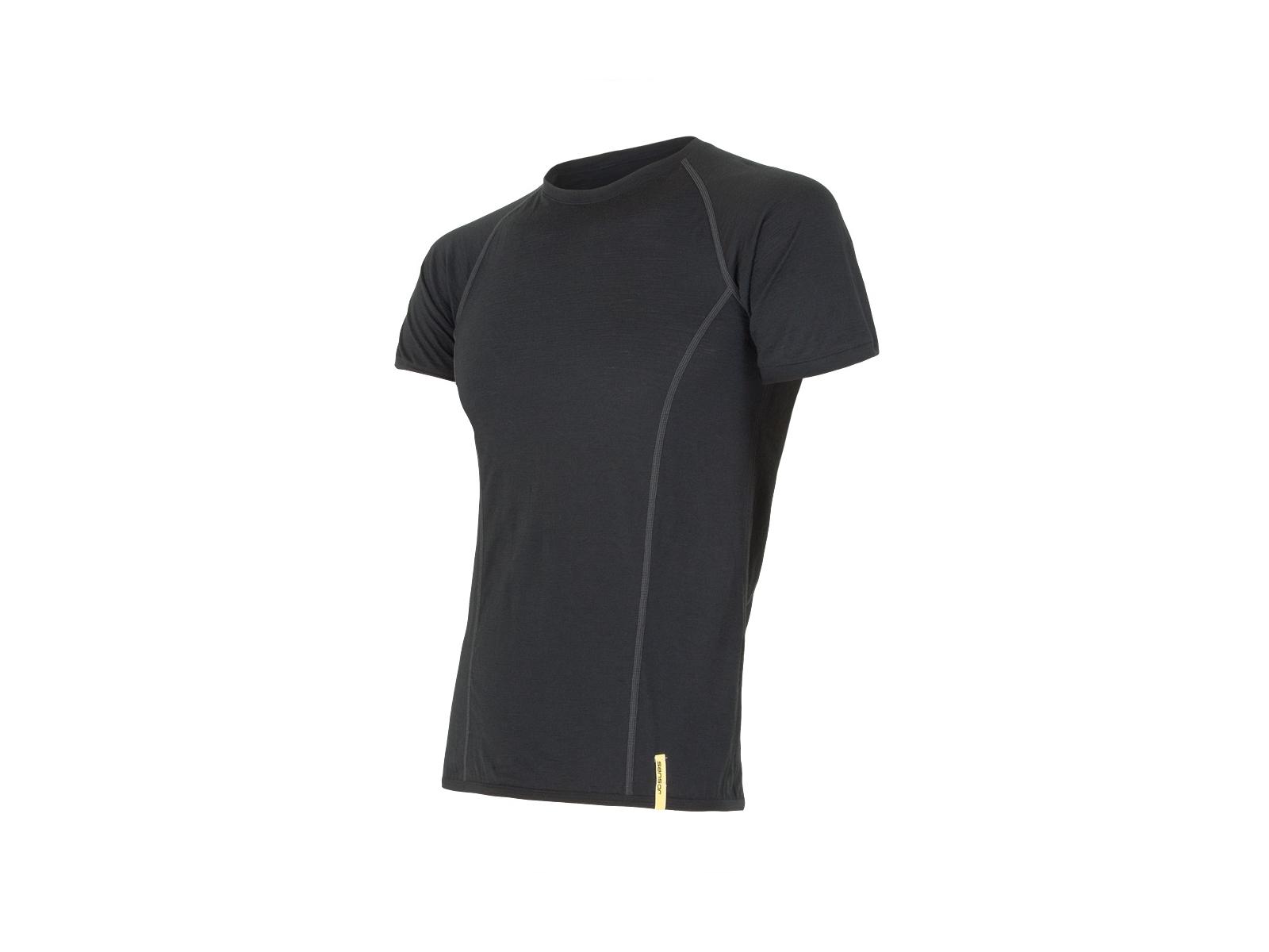 Sensor Merino Active Uld T shirt med korte ærmer Herre Sort (DKK 329,00)