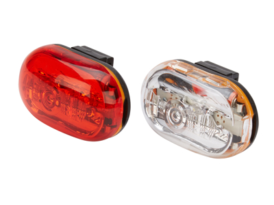 D.Light CG400 - Lygtesæt  med batteri - flere funktioner - Med klik beslag