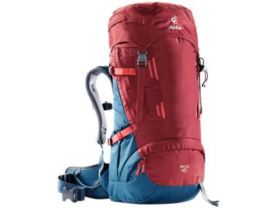 Deuter Fox 40  - Trek rygsæk - Model til børn - 40 liter - Rød/Blå