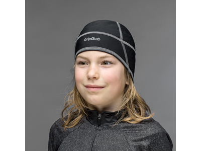 GripGrab Letvægts Thermo Skull Cap - Junior hjelmhue - Sort