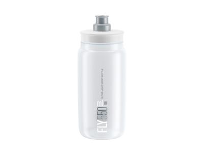 Elite Fly - Vattenflaska 550ml - 100% Biologiskt nedbrytbar - Transparent med grå logga