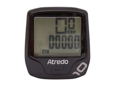Atredo - M10- Cykelcomputer med 10 funktioner - Trådløs - Sort