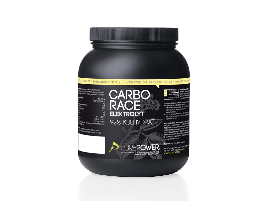 PurePower Carbo Race - Elektrolyt energidrik - Hyldeblomst - 1,5 kg thumbnail
