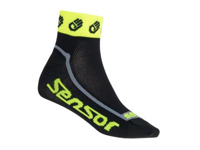 Sensor Race Lite - Cykelstrumpor - Svart/gul
