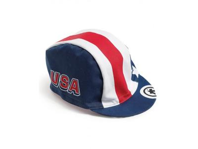 Assos USA Cap - Keps - Blå/vit/röd