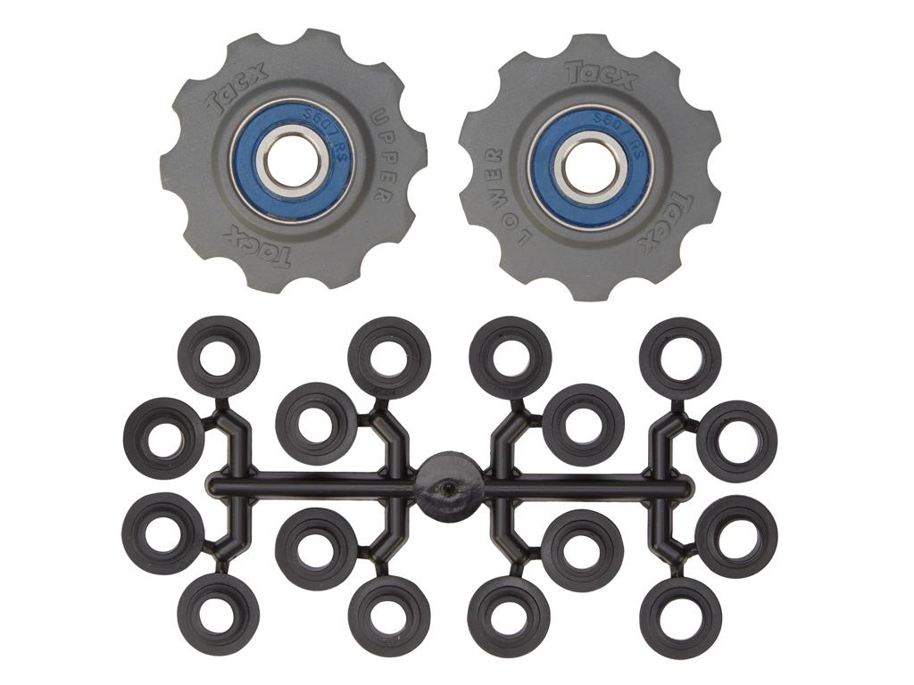 Image of   Tacx pulleyhjul med 10 tænder - Grå - Rustfrit stål