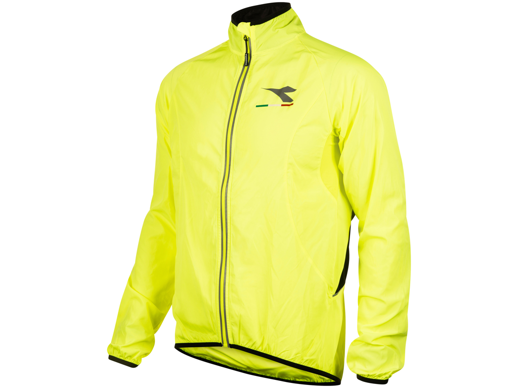 Image of   Diadora - Cykeljakke Giro Windbreaker - Str. XL - Gul med sort