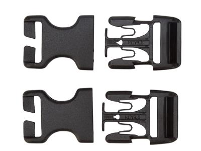 Ortlieb Stealth spænder - 25 mm - 2 stk. - Sidelukning af Back-Roller og Rack-Pack tasker