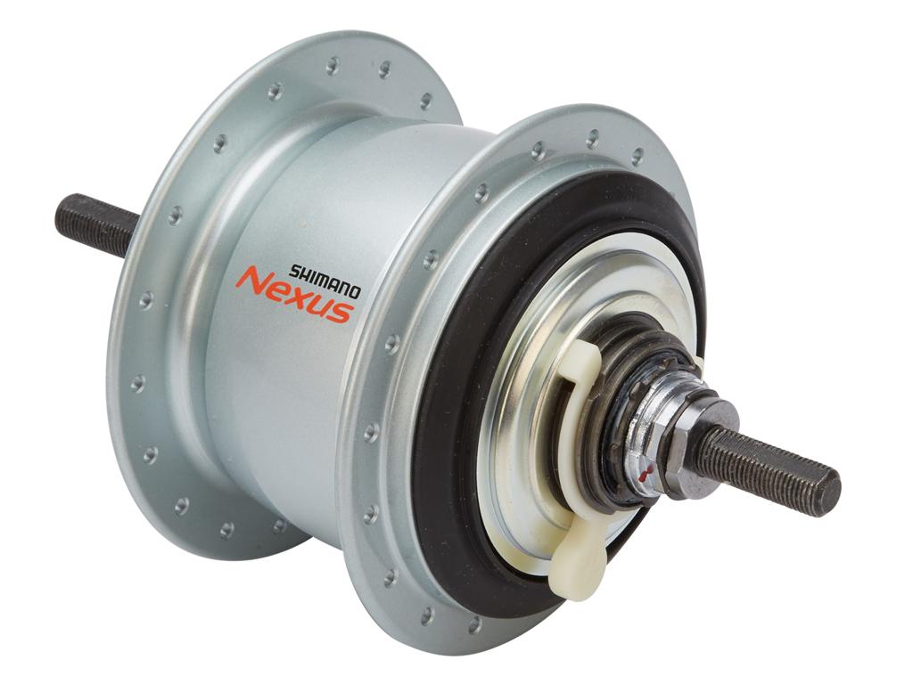 Shimano Nexus - Gearnav med 8 gear og friløb og fælgbremse - Type SG-C6001-8V - Sølv thumbnail