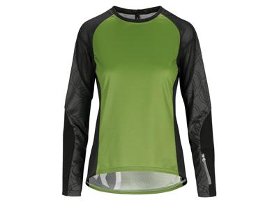 Assos Trail Womens Jersey - Dame MTB cykeltrøje med lange ærmer - Grøn