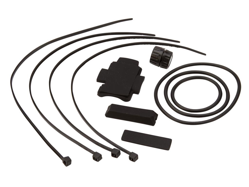 Image of   Atredo - Monteringssæt til cykelcomputer - Magnet - Gummimuffer og bånd - Med magnet