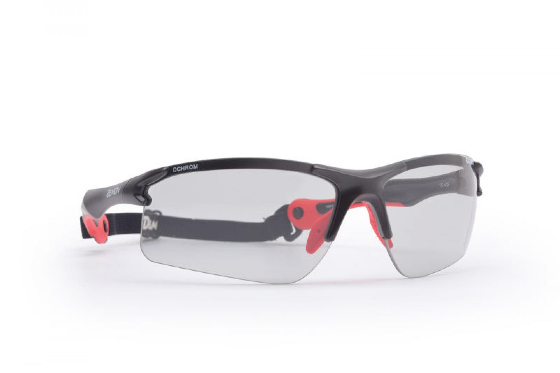 Demon Trail DCHROM - Løbe- og cykelbrille med fotokromiske linser - Sort/rød   Glasses