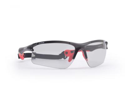 Demon Trail DCHROM - Løbe- og cykelbrille med fotokromiske linser - Sort/rød