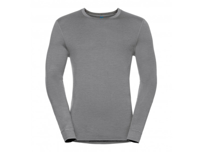 Odlo - Natural 100 Merino Shirt Crew Neck - Herre - Grå
